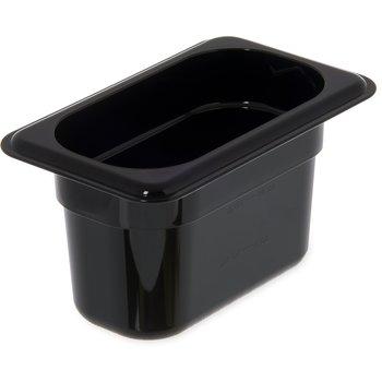 """3068703 - StorPlus™ Food Pan PC 4"""" DP 1/9 Size - Black"""
