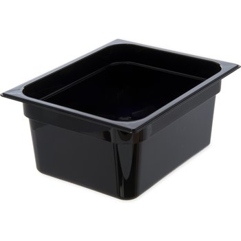 "10422B03 - StorPlus™ Food Pan HH 6"" DP 1/2 Size - Black"