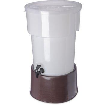 223001 - Round Dispenser w/Base 5 gal - Brown