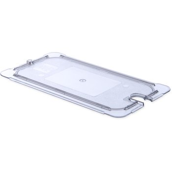 10277U07 - StorPlus™ Univ Lid - Food Pan PC Flat Notched 1/3 Size - Clear