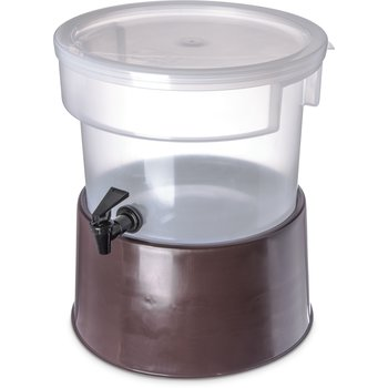 222701 - Round Dispenser w/Base 3 gal - Brown