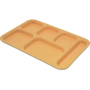 """4398834 - Tray 6 Compartment Right Hand 14.5"""" x 10"""" - Bright Yellow"""