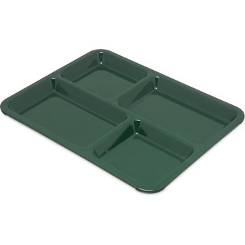 "KL44408 - 4-Compartment Tray 10-15/16"", 8-21/32"", 5/8"" - Forest Green"