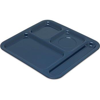 """4398450 - 4-Compartment Tray 10-1/8"""", 9-25/32"""", 1/2"""" - Dark Blue"""