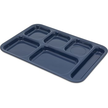 "4398850 - Tray 6 Compartment Right Hand 14.5"" x 10"" - Dark Blue"