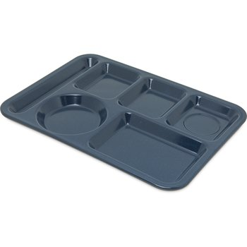 4398035 - Left-Hand Heavy Weight 6-Compartment Tray - Café Blue