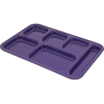 "4398887 - Tray 6 Compartment Right Hand 14.5"" x 10"" - Purple"