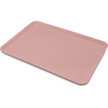 "1318FG066 - Glasteel™ Solid Display/Bakery Tray 17.75"" x 12.75"" - Mauve"