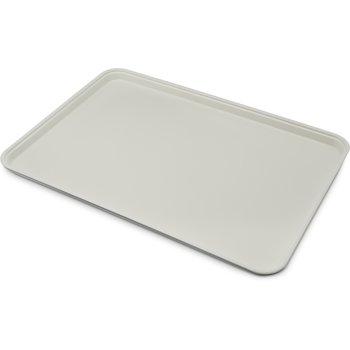"1318FG002 - Glasteel™ Solid Display/Bakery Tray 17.75"" x 12.75"" - Smoke Gray"