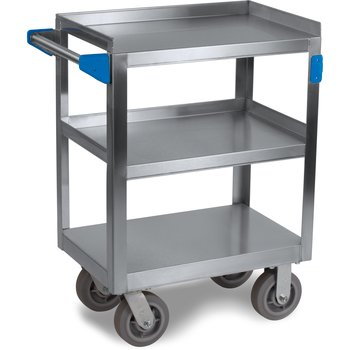 """UC7031524 - 3 Shelf Stainless Steel Utility Cart 700 lb Capacity 15.5""""W x 24""""L - Stainless Steel"""