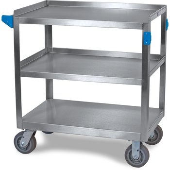 """UC7032133 - 3 Shelf Stainless Steel Utility Cart 700 lb Capacity 21"""" W x  33""""L - Stainless Steel"""