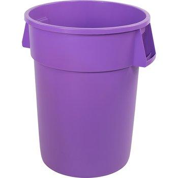 34105589 - Bronco™ Round Waste Bin Trash Container 55 Gallon - Purple