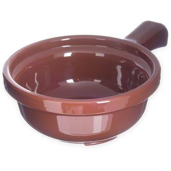 "700828 - Handled Soup Bowl 12 oz, 5-1/4"" - Lennox Brown"