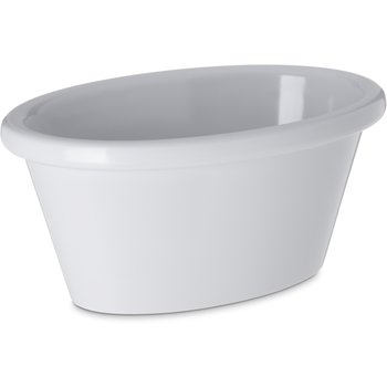 S31402 - Melamine Smooth Oval Ramekin 4 oz - White