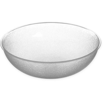 721507 - Round Pebbled Bowl 11 qt - Clear