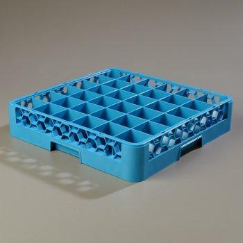 RG3614 - OptiClean™ 36 Compartment Glass Rack  - Carlisle Blue
