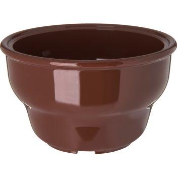 455328 - Melamine Deep Salsa Bowl Ramekin 8 oz - Lennox Brown