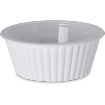 0844-802 - Melamine Fluted Ramekin 2 oz - Cash & Carry (12/st) - White
