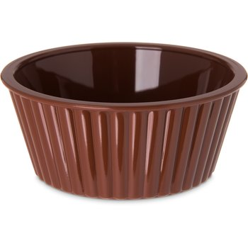 084528 - SAN Fluted Ramekin 4.5 oz - Lennox Brown