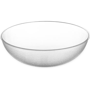 722307 - Round Pebbled Bowl 33 qt - Clear