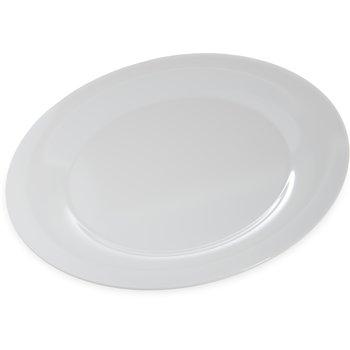 """4440402 - Designer Displayware™ Wide Rim Round Platter 15"""" - White"""