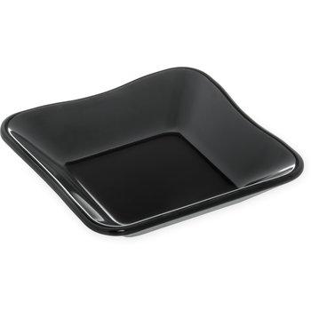 "793403 - Square Scalloped Dish/Inset 5-1/2"" - Black"