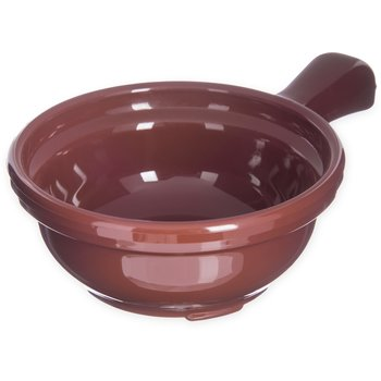 "700628 - Handled Soup Bowl 8 oz, 4-5/8"" - Lennox Brown"