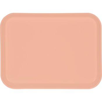"""1410FG016 - Glasteel™ Solid Rectangular Tray 13.75"""" x 10.6"""" - Peach"""