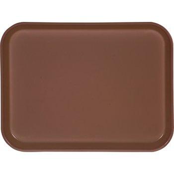 "1410FG127 - Glasteel™ Solid Rectangular Tray 13.75"" x 10.6"" - Chocolate"