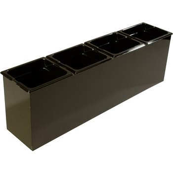 "1080603 - Tall Condiment Food Station 25.25"" x 6.5"" x 8.75"" (LxWxH) - Black"