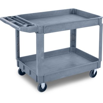 "UC452523 - Bin Top Utility Carts Large Bin Top Utility Cart 5"" Casters 45"" x 25"" - Gray"