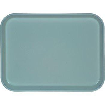 "1410FG013 - Glasteel™ Solid Rectangular Tray 13.75"" x 10.6"" - Ice Blue"
