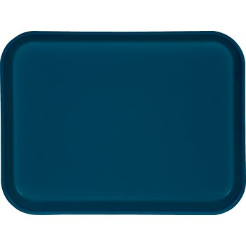 "1410FG014 - Glasteel™ Solid Rectangular Tray 13.75"" x 10.6"" - Cobalt Blue"