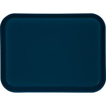 "1410FG015 - Glasteel™ Solid Rectangular Tray 13.75"" x 10.6"" - Navy"
