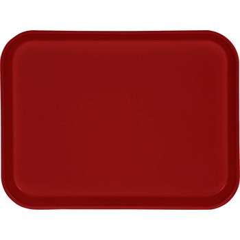 """1410FG017 - Glasteel™ Solid Rectangular Tray 13.75"""" x 10.6"""" - Red"""