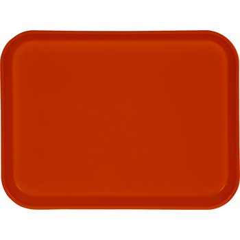 "1410FG018 - Glasteel™ Solid Rectangular Tray 13.75"" x 10.6"" - Orange"