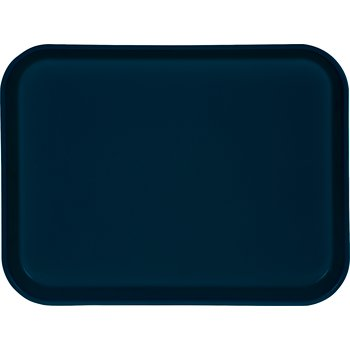 "1410FG050 - Glasteel™ Solid Rectangular Tray 13.75"" x 10.6"" - Sapphire Blue"