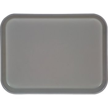 "1410FG068 - Glasteel™ Solid Rectangular Tray 13.75"" x 10.6"" - Gray"