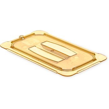 10490U13 - StorPlus™ Univ Lid - Food Pan HH Handled 1/4 Size - Amber