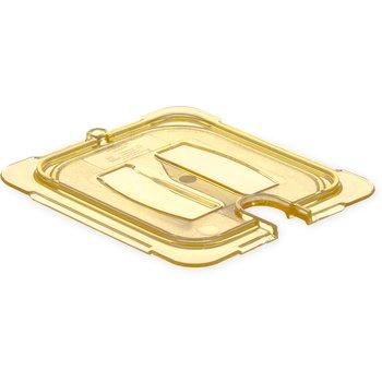 10511U13 - StorPlus™ Univ Lid - Food Pan HH Handled Notched 1/6 Size - Amber