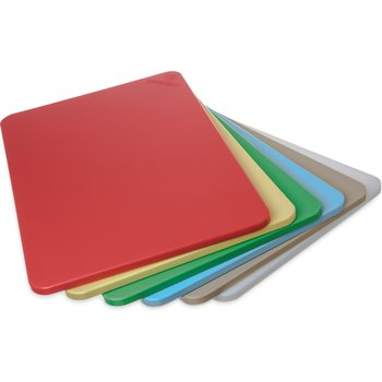 """1088000 - Spectrum® Color Cutting Board Pack 12"""" x 18"""" x 1/2"""" (6/pk) - Assorted"""