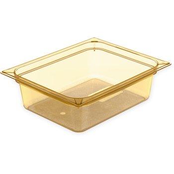 """10421B13 - StorPlus™ Food Pan HH 4"""" DP 1/2 Size - Amber"""