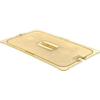 10411U13 - StorPlus™ Univ Lid - Food Pan HH Handled Notched Full Size - Amber