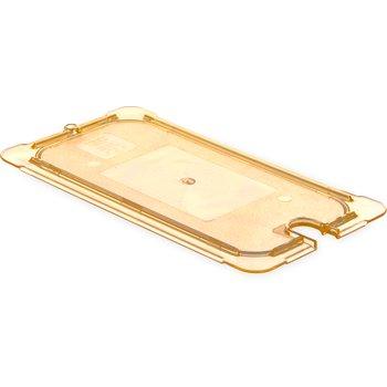 10470U13 - StorPlus™ Univ Lid - Food Pan HH Flat 1/3 Size 1/3 Size - Amber