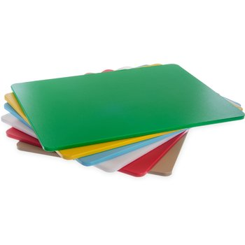 """1088600 - Spectrum® Color Cutting Board Pack 18"""", 24"""", 1/2"""" (6/pk) - Assorted"""