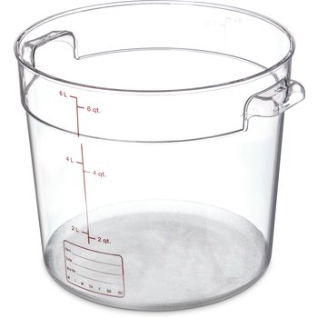 1076507 - StorPlus™ Round Container 6 qt - Clear
