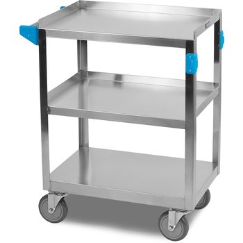 "UC3031524 - 3 Shelf Stainless Steel Utility Cart 300 lb Capacity 15.5 x 24""W - Stainless Steel"