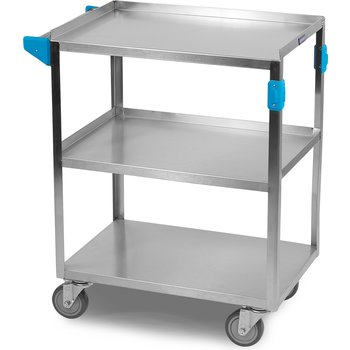 "UC5031524 - 3 Shelf Stainless Steel Utility Cart 500 lb Capacity 15.5""W x 24""L - Stainless Steel"