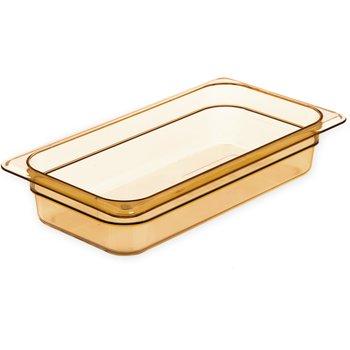 "3086013 - StorPlus™ Food Pan HH 2.5"" DP 1/3 Size - Amber"