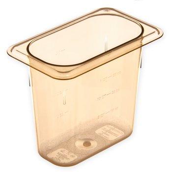 "3088813 - StorPlus™ Food Pan HH 6"" DP 1/9 Size - Amber"